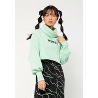 Colorbox High Neck Sweatshirt I:Stkfct221A003 Mint