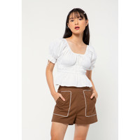 Colorbox Runched Top I:Bswfcr221A008 White