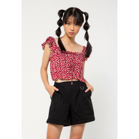 Colorbox Tanktop Ruffle Shoulder I:Bswkey221A028 Red