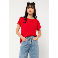 Colorbox Regular Loose T-Shirt I:Tskkey221A041 Red