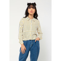 Colorbox Crop Long Sleeves Shirt I-Blwkey221A048 Off White