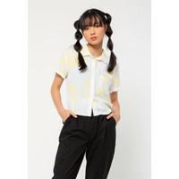 Colorbox Basic Crop Shirt I:Bswkey221A010 Yellow