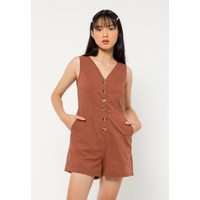 Colorbox Sleeveless Jumpsuit I:Jswkey221A036 Brown