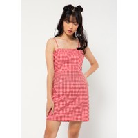 Colorbox Gingham Dress I-Diwfjn221A018 Red
