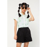 Colorbox Basic Crop Shirt I:Bswkey221A009 Turquois