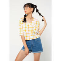 Colorbox Crop Short Sleeve I:Bswkey221A038 Yellow
