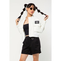 Colorbox Cropped Jacket I:Jkdfct221A004 Off White