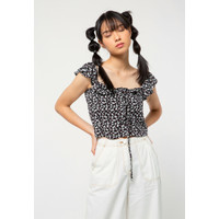 Colorbox Tanktop Ruffle Shoulder I:Bswkey221A029 Black