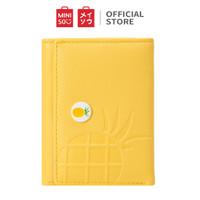 Miniso Dompet pendek plastik lipat tiga buah Three-Fold Short Purse - Pineapple