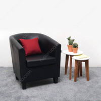 INFORMA KURSI TAMU - LEXXY TUB CHAIR BLACK-PU019 RED-43122-4