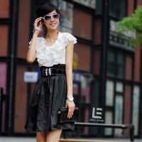 Dress Black and White Import
