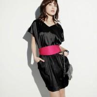 Vogue Kimono-Inspired Silky Satin Dress