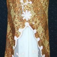 BP-105.39e.cr Rok kebaya modern emas jala cream variasi payet size XXL (Kode BP-105.39e.cr)