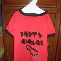 Baju Anjing Kucing party animal