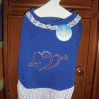 Baju Anjing Kucing Blue Heart