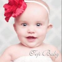 Top Baby Headband Flower (RED)