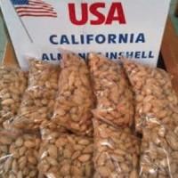1 Kg Almond Roasted ( panggang ) milk USA california - ORIGINAL-ASIN