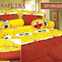 Kartun TS - Spongebob BED COVER SET 160 x 200 cm