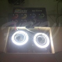 FOG LAMP PROJIE SAXO SK-2009 ANGEL EYES PUTIH