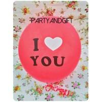 Balon I Love You (merah)