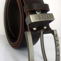 Ikat Pinggang Full Kulit Asli IPF020,Levis Genuin Leather,Sabuk Pria