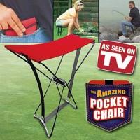 pocket chair kursi saku lipat portabel as ssen on tv mancing garden ok