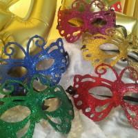 Topeng Kupu Glitter