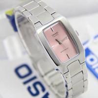 Casio LTP1165 Rantai Ladies Original Silver plat pink