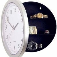 Wall Clock with Hidden Safe Jam Dinding Brankas Simpan Barang Berharga