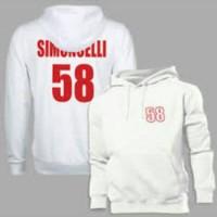 hoodie white or grey marco simoncelli
