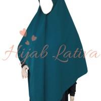 Hijab Syar'i - Jilbab Segi Empat (Hijau Tosca Gelap)