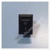ON-OFF Rocker Switch, 117S 2-Pin 250V3A 125V6A / ON-OFF Black Plastic