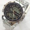 Jam Tangan Swiss Army Rantai Dual Time H090 (Silver Hitam)