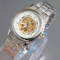 Rolex Skeleton Klasik Rantai (Silver White)