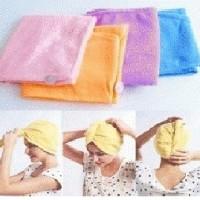 Hair Wrap Magic Towel ~ Handuk penyerap Air / Pengering Rambut