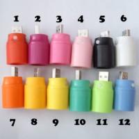 Senter LED USB Multi Fungsi Color untuk Power Bank