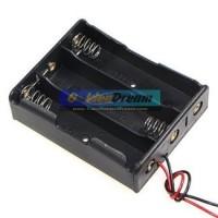 3x 18650 Battery Holder Baterai Case Batere Box Kotak Batre Dengan Kabel