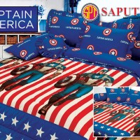Sprei Captain America BED COVER SET 160 x 200 cm
