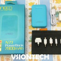 PowerBank Samsung Uneed 7800mAh Blue iPhone iPod iPad Galaxy Tab Nokia