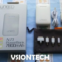 PowerBank Samsung Uneed 7800mAh White iPhone iPod iPad Galaxy Tab Nokia