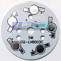 Heat Sink Aluminium Plat Pendingin LED 5W = 5x 1W Universal PCB Heatsink Diameter 49mm Alum