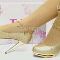 gold heels gliter