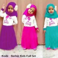 Barbie Kids Full Set - Bahan Spandek - Ukuran 2 4 6 8 - Grosir Baju Anak Murah