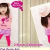 ST Pink Barbie Kids - Bahan Spandek - All Size Fit to L - Grosir Baju Murah