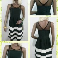 Dress Stripe Lace Black