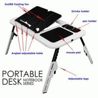 Meja Laptop Portable dengan 2 cooling fan