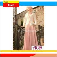 Baju Muslim Wanita Terbaru Model Cardigan S141 Clara
