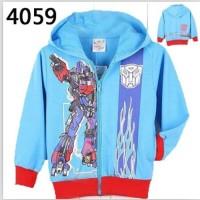 Jaket Anak Import Jacket Transformer Blue