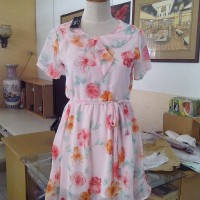 Dress flower peach