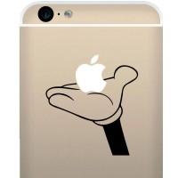 Tokomonster Decal Sticker Mickey Hand Holding Apple 2 New Iphone